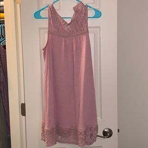 Dusty rose strapless dress. Large